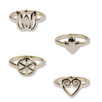 Set prsteňov PETRA TOTH 38-PRS-GD-MLV