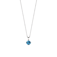 Náhrdelník TI SENTO s modrým fazetovým kameňom 3926DB