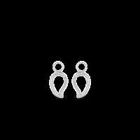 Prívesky na náušnice TI SENTO s bielymi zirkónmi 9202ZI