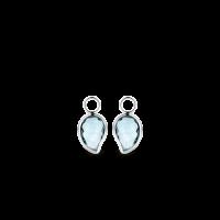 Prívesky na náušnice TI SENTO s modrým kameňom 9203WB