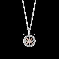 Prívesok TI SENTO kruh s ružovým pozlátením a zirkónmi 6768ZR