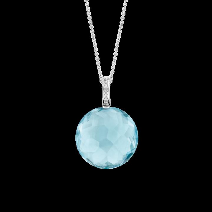 Prívesok TI SENTO s modrým kameňom a bielymi zirkónmi 6758WB