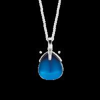 Prívesok TI SENTO s modrým kameňom v tvare slzy 6762DB